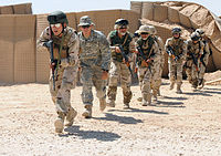 Iraqi commandos training under the supervision of soldiers from the U.S. 82nd Airborne in December 2010
