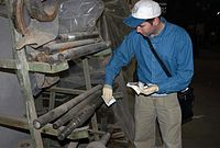 A UN weapons inspector in Iraq, 2002