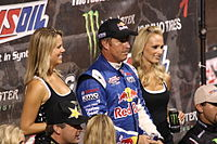 Johnson after winning a Traxxas TORC Series race in 2010