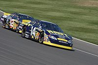 The No. 12 (left) and No. 14 cars of FitzBradshaw in 2004.