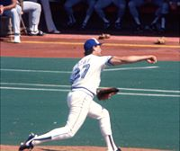 Dave Stieb has the second highest number of wins among pitchers in the 1980s.