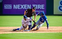 Josh Donaldson slides into second base during the first game of the 2016 ALDS.
