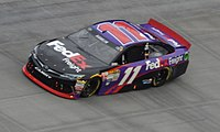 Jones made his unofficial Sprint Cup Series debut in substitution for Denny Hamlin.