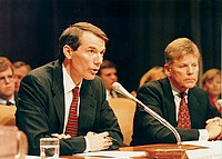 Rob Portman testifying before the Senate Budget Committee in 1998
