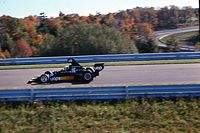 Tom Pryce at the 1975 United States Grand Prix in the Boot's main straight