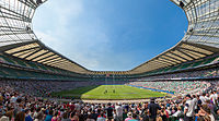Twickenham, home of the England rugby union team, has an 82,000 capacity, the world's largest rugby union stadium.