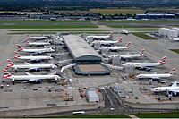 London Heathrow Airport is the busiest airport in Europe as well as the second busiest in the world for international passenger traffic. (Terminal 5C is pictured)