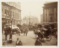 View to the Royal Exchange in the City of London in 1886