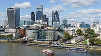 The City of London, one of the largest financial centres in the world