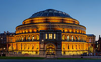 The Royal Albert Hall hosts concerts and musical events.