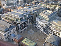 The London Stock Exchange at Paternoster Square and Temple Bar
