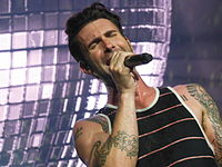 Levine performing at the opening night of the Honda Civic Tour 2013