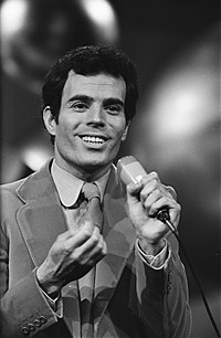 Julio Iglesias at the Eurovision Song Contest 1970.