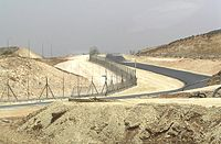 Israeli West Bank barrier separating Israel and the West Bank
