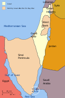 Territory held by Israel: The Sinai Peninsula was returned to Egypt in 1982.