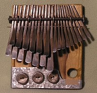 The African lamellophone, thumb piano or mbira