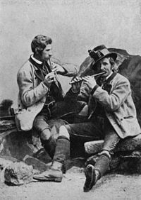 The Steinegger brothers, traditional fifers of Grundlsee, Styria, 1880