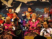Naxi traditional musicians