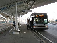 An SL3 bus at Airport station
