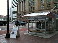 Shelter at South Station for route SL4