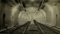 Southern branch of the Tremont Street subway near the former Pleasant Street portal. This tunnel was briefly considered for use in the Phase III tunnel and is the likely connecting route for a proposed conversion of the Washington Street section of the Silver Line to a branch of the Green Line.
