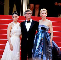 Rooney Mara, Todd Haynes and Cate Blanchett during premiere of Carol at the 2015 Cannes Film Festival
