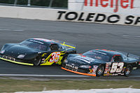Stremme (No. 35) races Boris Jurkovic in a CRA Super Series race in 2008