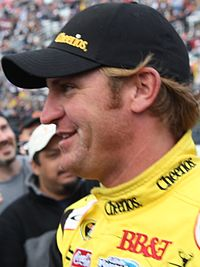 Clint Bowyer won the race after a close battle with his teammate Kevin Harvick.