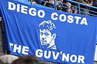 Chelsea supporters' banner in honour of Costa, November 2014