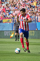 Costa in action for Atlético Madrid in 2013