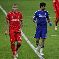 Costa and Martin Škrtel have had several notable clashes.