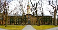 Nassau Hall at Princeton University, one of the world's most prominent research universities