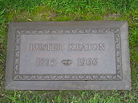 Keaton's grave at Forest Lawn Memorial Park (Hollywood Hills)