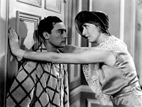 """With Charlotte Greenwood in one of his first """"talkies"""", Parlor, Bedroom and Bath (1931)"""