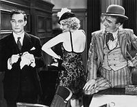 Keaton, Thelma Todd and Jimmy Durante in Speak Easily (1932)