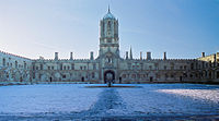 Christ Church, Oxford, is part of the University of Oxford, which traces its foundations back to c. 1096.
