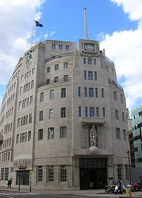 Broadcasting House in London, headquarters of the BBC, the oldest and largest broadcaster in the world