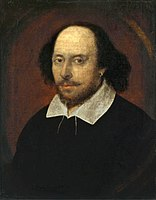 The Chandos portrait, believed to depict William Shakespeare