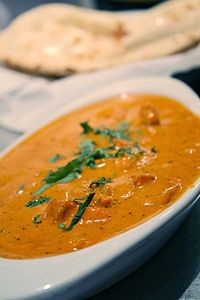 """Chicken tikka masala, 1971, adapted from Indian chicken tikka and called """"a true British national dish"""""""