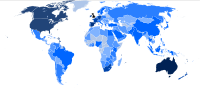 Estimated number of British citizens living overseas by country in 2006