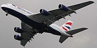 Engines and wings for the Airbus A380 are manufactured in the UK.