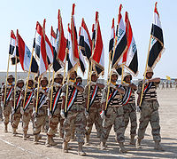 Soldiers of the 53rd Brigade, 14th Iraqi Army division graduate from basic training.