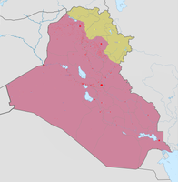 The current military control in Iraq as of 3 May 2018: