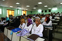 Students at the college of medicine of the University of Basrah, 2010.