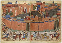 The sack of Baghdad by the Mongols.