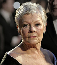 Judi Dench (pictured) and Winslet played the novelist Iris Murdoch at different ages in Iris (2001)