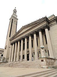 Springfield City Hall and its campanile, built in the Classical Revival style, were completed in 1913 and christened by former President William Howard Taft.