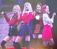 """Blackpink performing """"Playing with Fire"""" at the 8th Melon Music Awards on November 29, 2016"""