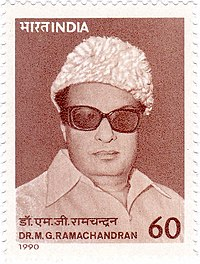 M. G. Ramachandran in 1990 Stamp of India