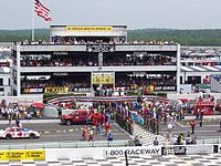 Victory Lane at Pocono during pre-race ceremonies at the 2005 Pocono 500